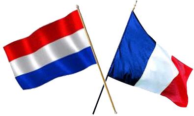 Drapeaux de Hollande et de France